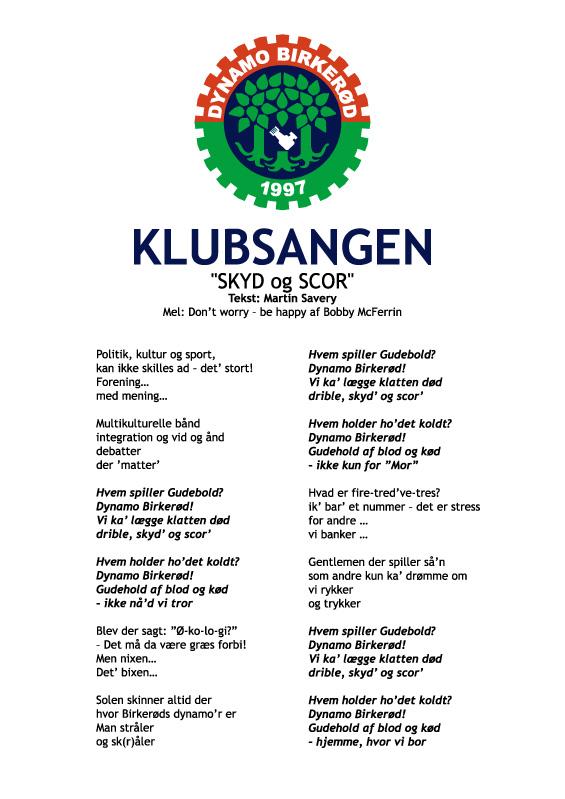 Dynamo Birkerød klubsang
